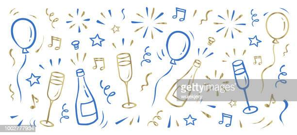 new year's background - party stock illustrations