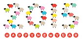 New Year's card 2015, Year of the sheep