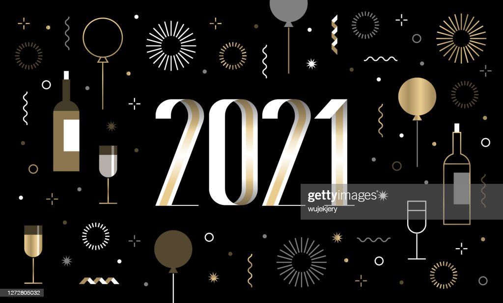 new years card 2021 with happy new year wishes and new year icon set high res vector graphic getty images new years card 2021 with happy new year wishes and new year icon set high res vector graphic getty images