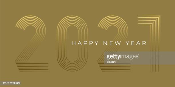 new year's day card 2020. happy new year design. - new year card stock illustrations