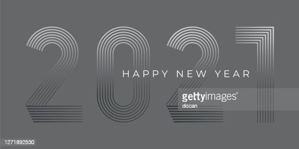 new year's day card 2021. happy new year design. - new year card stock illustrations