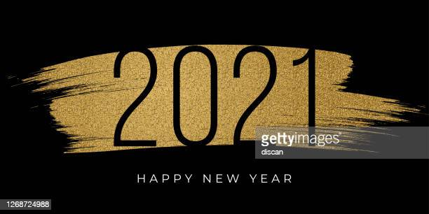 2021 - new year's day card with golden glitter. stock illustration - 2021 stock illustrations