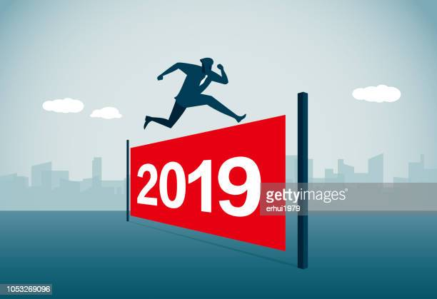 new year's day - hurdle stock illustrations