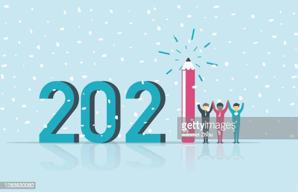 new year's day - glühend stock illustrations