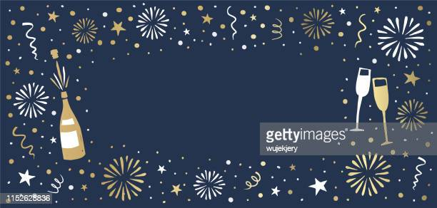 new year's eve background - celebration stock illustrations