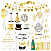 2019 new years eve clipart graphics