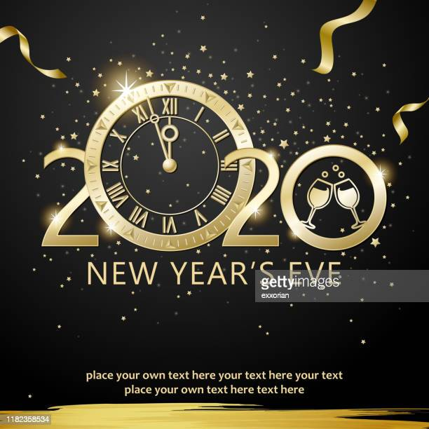 silvester countdown party 2020 - silvester stock-grafiken, -clipart, -cartoons und -symbole