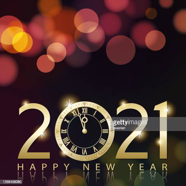 2021 new year's eve countdown - 2021 stock illustrations