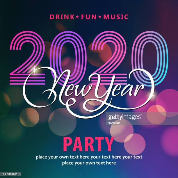 2020 new year's eve disco party - 2020 stock illustrations
