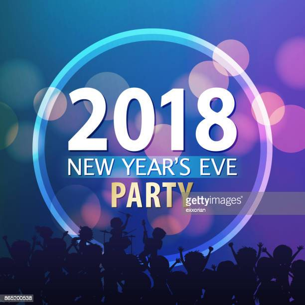 new year's eve party 2018 - applauding stock illustrations, clip art, cartoons, & icons