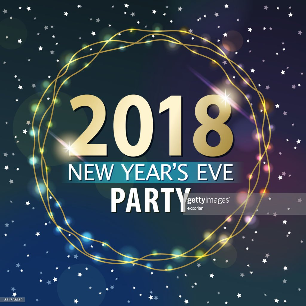New Year's Eve Party 2018 : Stock Illustration