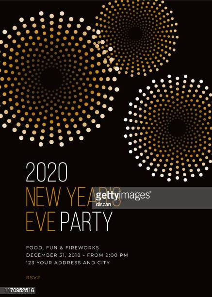new year's eve party invitation template. - countdown stock illustrations