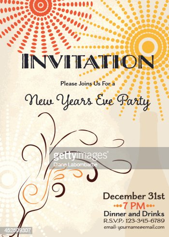 Happy new year eve champagne bottle invitation design template keywords stopboris Image collections