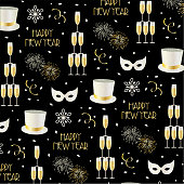 new years eve pattern