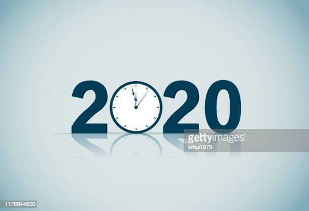 new year's eve - 2019 2020 calendar stock illustrations