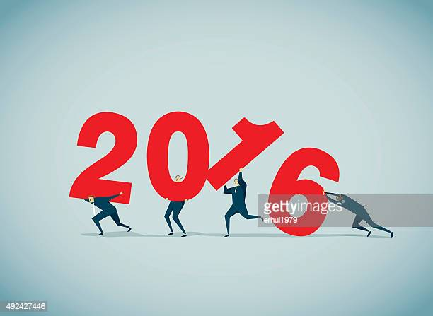 new year's eve - 2016 stock illustrations, clip art, cartoons, & icons