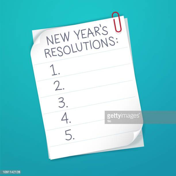 new year's resolution list - to do list stock illustrations