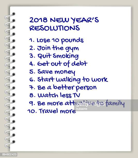 new year's resolutions list - to do list stock illustrations, clip art, cartoons, & icons