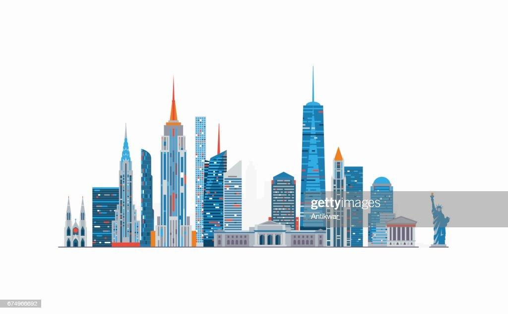 New York abstract skyline