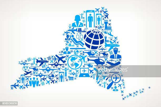 New York Aviation and Air Planes Vector Graphic