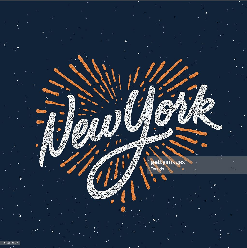 New York calligraphic t-shirt design