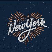 New York calligraphic t-shirt design