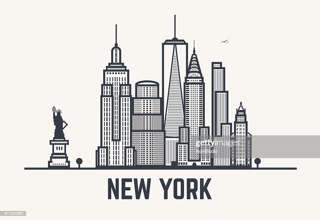 New York city black lines
