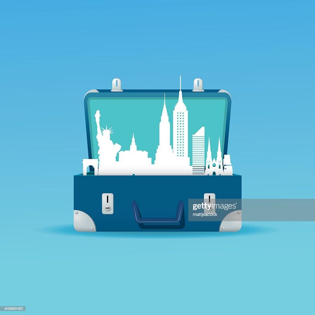 New York city destination : stock illustration