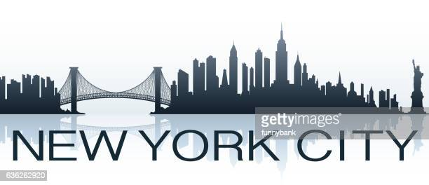 new york city greeting - brooklyn bridge stock illustrations, clip art, cartoons, & icons
