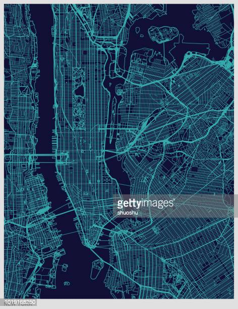 stockillustraties, clipart, cartoons en iconen met new york city kaart textuur achtergrond - new york city