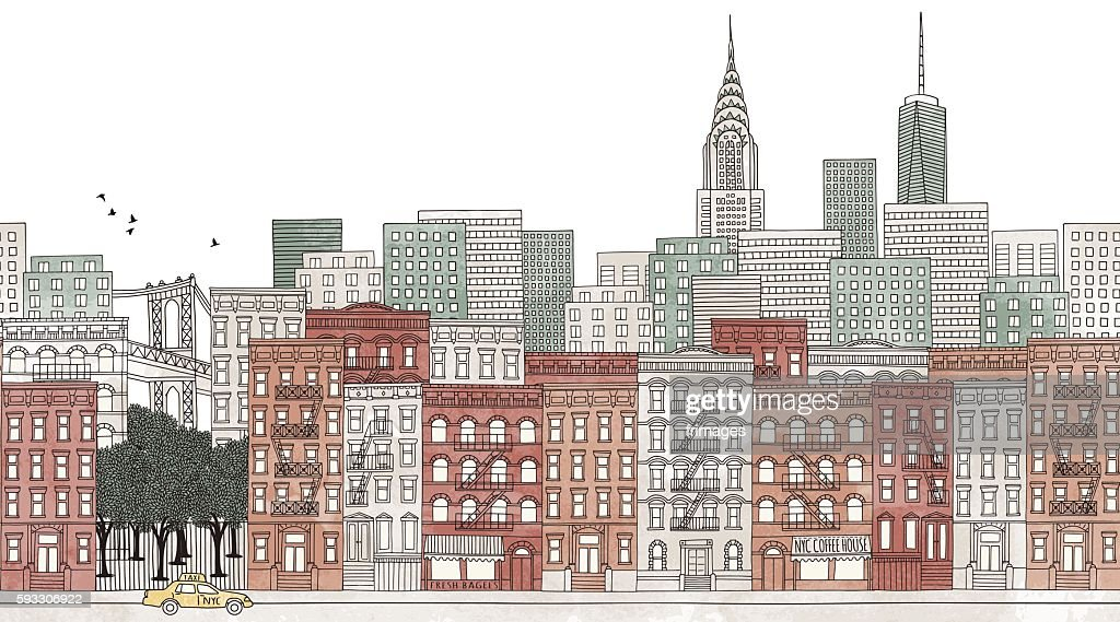 New York City - seamless banner of New York's skyline
