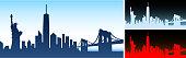 New York City skyline panoramic Horizontal Background