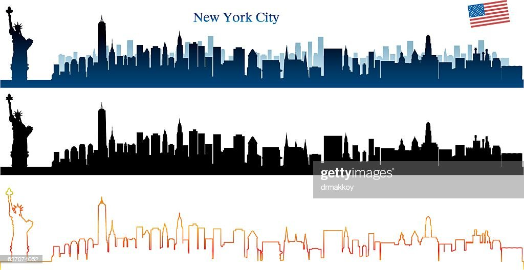New York City Skyline : stock illustration