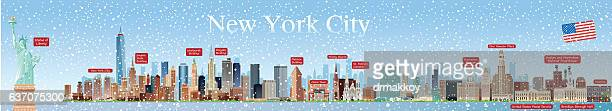 new york city skyline - chrysler building stock illustrations, clip art, cartoons, & icons