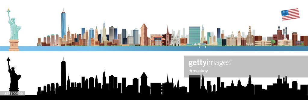New york City Skyline : stock illustration