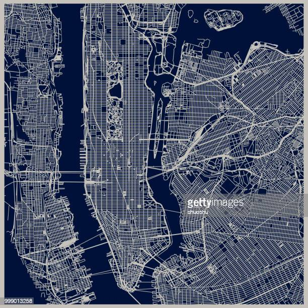 new york city structure - map stock illustrations