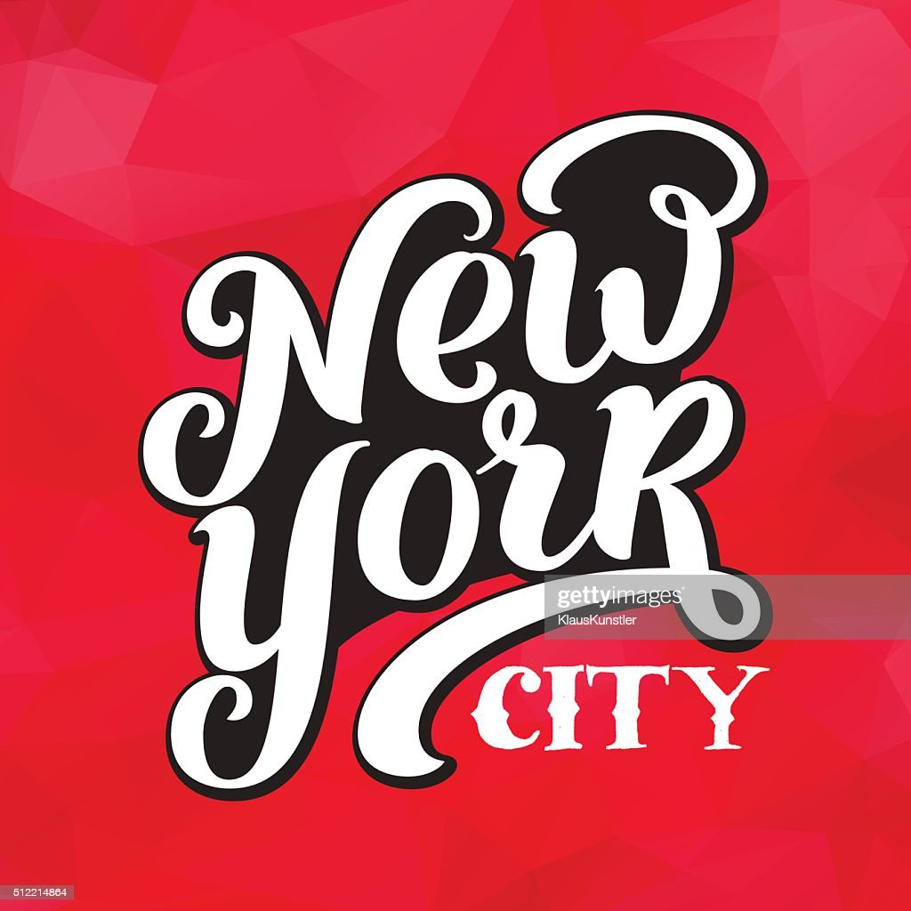 New York city typography brush pen design.