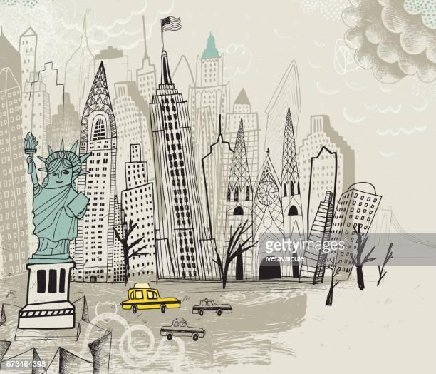 new york city usa - brooklyn new york stock illustrations, clip art, cartoons, & icons