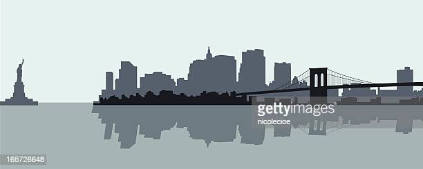 new york city - brooklyn bridge stock illustrations, clip art, cartoons, & icons