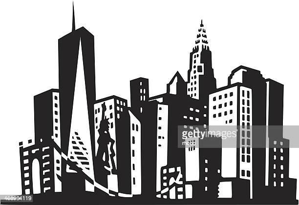 new york city - chrysler building stock illustrations, clip art, cartoons, & icons