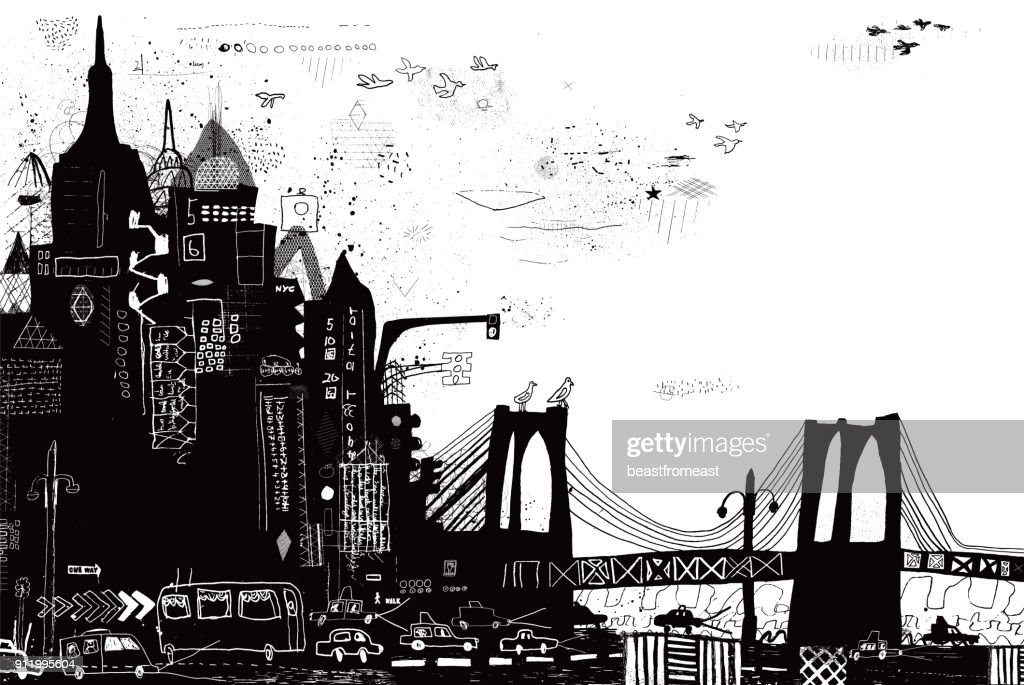 New York City vector illustration : stock illustration