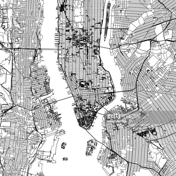 illustrations, cliparts, dessins animés et icônes de new york city vector carte - new york city