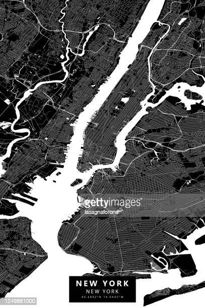 illustrations, cliparts, dessins animés et icônes de carte vectorielle de new york - new york city