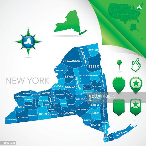 new york county map - labeling stock illustrations, clip art, cartoons, & icons