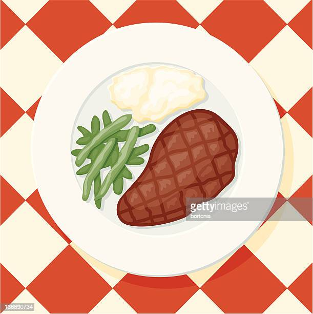 new york cut steak - steak plate stock illustrations, clip art, cartoons, & icons