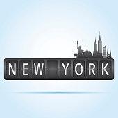New York departure board