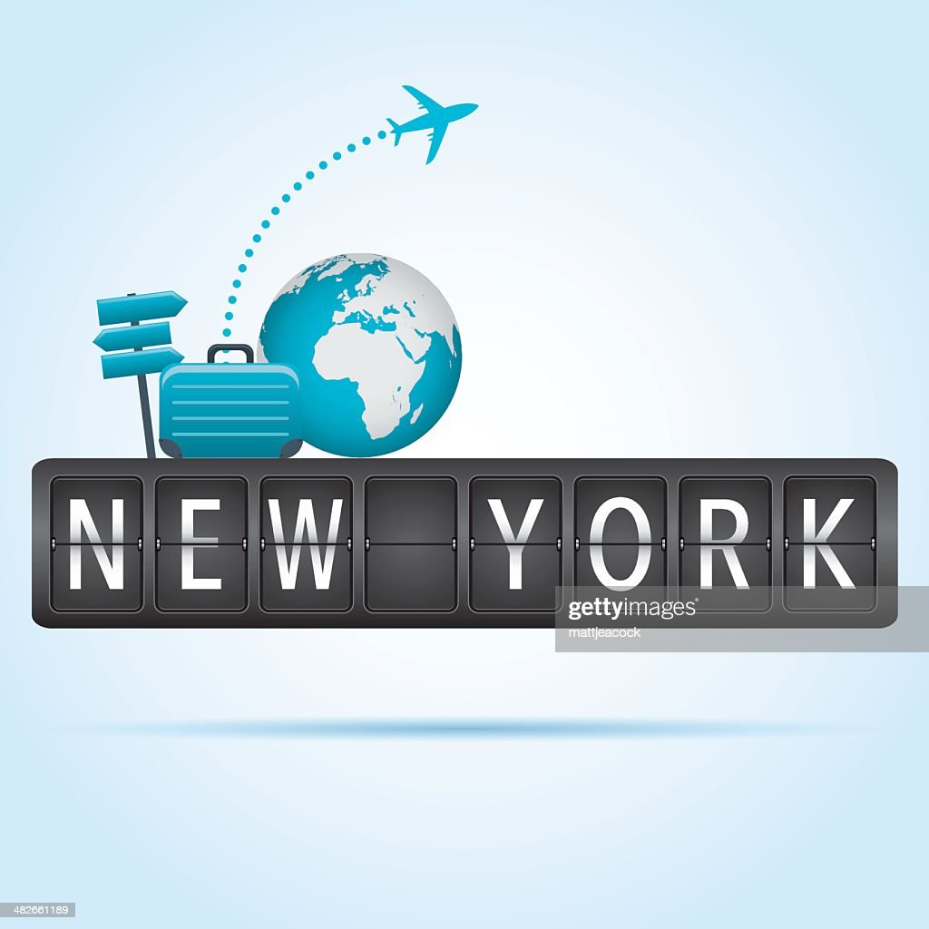New York departure board