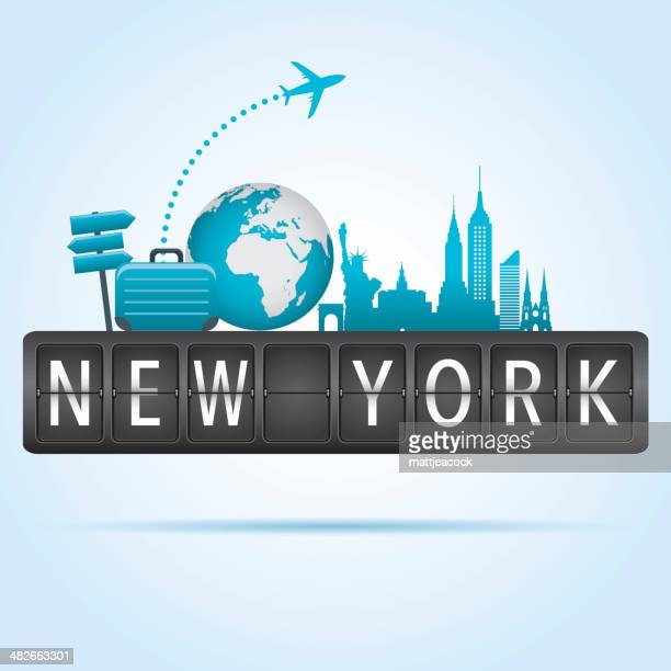new york departure board - st. patrick's cathedral manhattan stock illustrations, clip art, cartoons, & icons