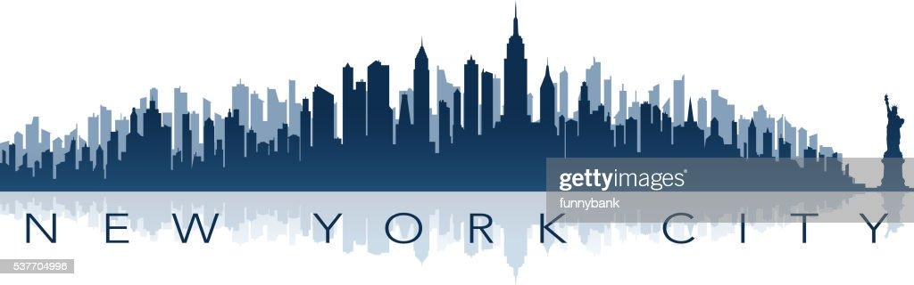 new york greeting card : stock illustration