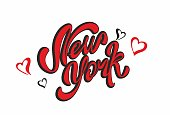 New York . Lettering.Travel. The design concept for the tourism industry. Vector illustration.